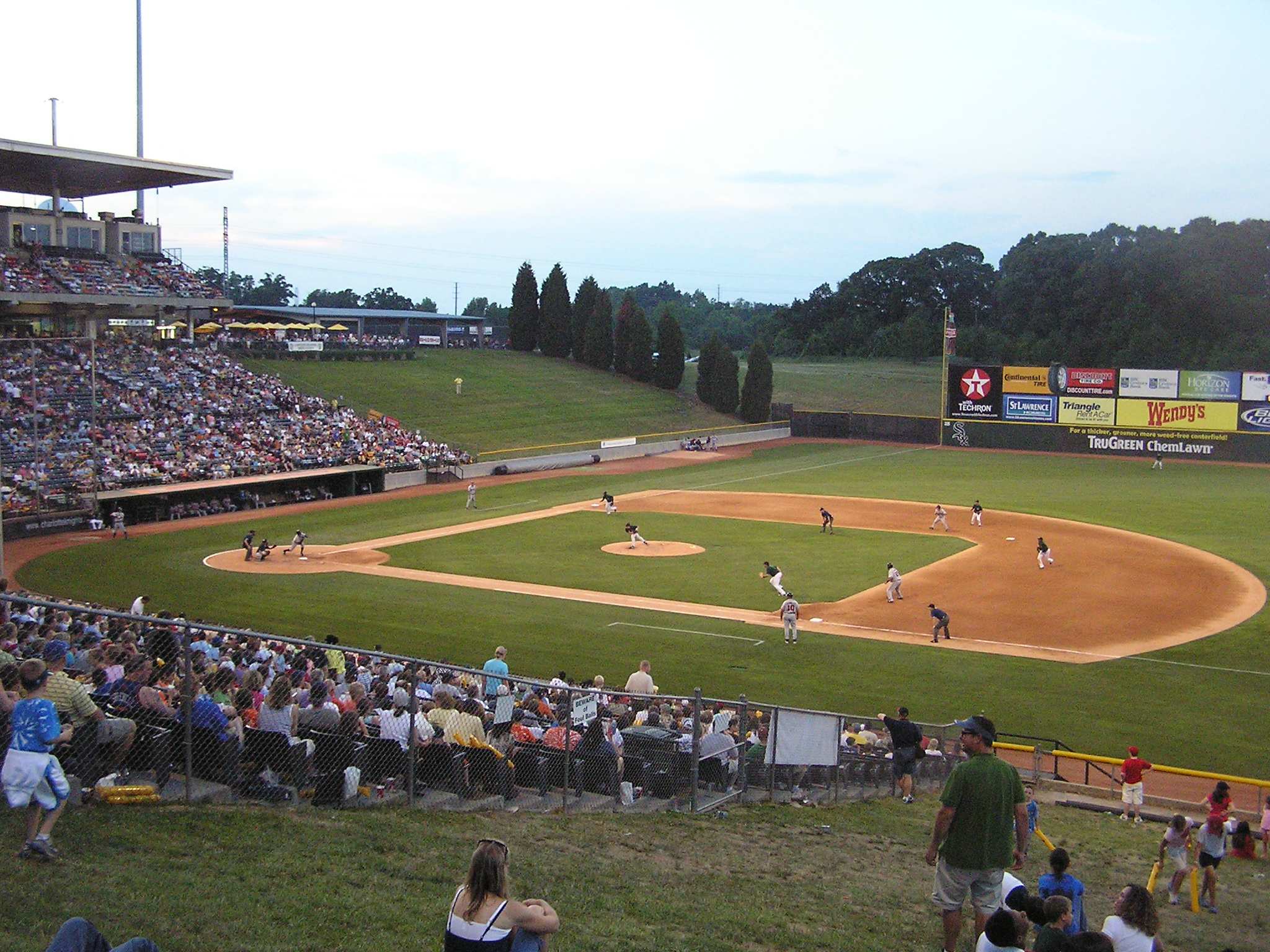 Knights Stadium from the first base side
