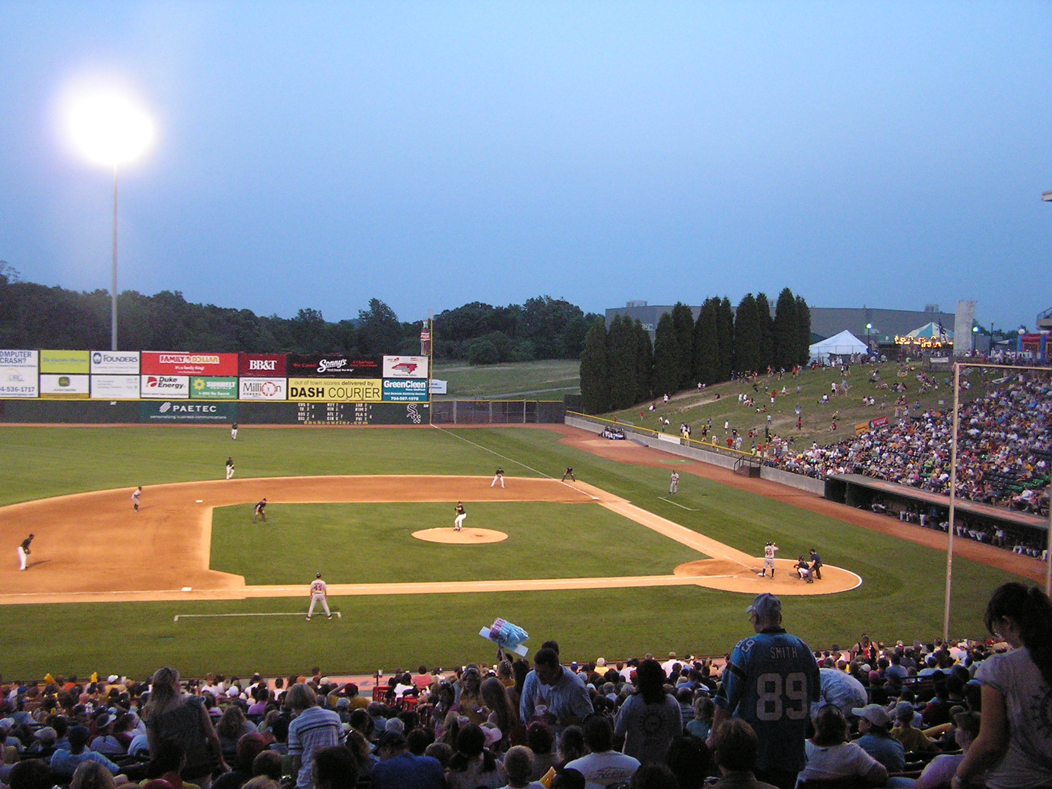 Knights Stadium from the 3rd base side